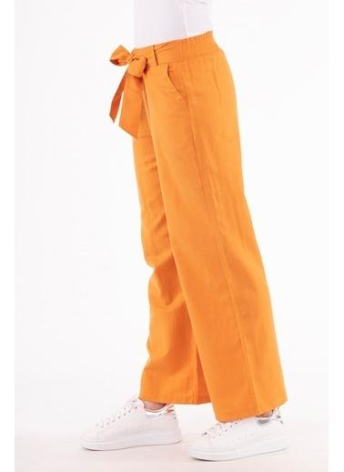 Stamina  Bayan Beli Lastikli Geniş Paça Pantolon-5PN01 Oranj